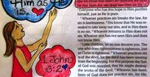 ♥ Scripture Drawing ♥ / These 1-minute devotions include a Scripture drawing to encourage and give ideas for creative Bible journaling. Enjoy!