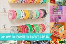 Craft Room / Ideas for organizing craft supplies.
