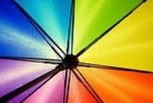 """Umbrellas, Parasols, Brolly, Parapluie ☂ ~ Paraguas, Parasoles, Quitasoles, Sombrillas ☂ / """"I'm singing in the rain, just singing in the rain; What a wonderful feeling, I'm happy again."""" ~Arthur Freed / """"Estoy cantando bajo la lluvia, sólo cantando bajo la lluvia; ¡Qué sensación maravillosa, estoy feliz de nuevo!"""" ~Arthur Freed / by Irene Niehorster"""