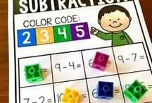 Addition and Subtraction / Addition and subtraction ideas for the Kindergarten and 1st grade classroom.