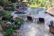 pool + patio / by Mallory Vennard