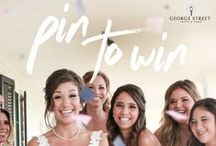 Pin to Win Contest Board / PIN TO WIN! Re-pin two of our pins to your own wedding inspiration board and then share it for your chance to win two one-hour consultations from wedding planner, Lisa Kenward Events. Visit http://bit.ly/234Uw6M to complete your entry.    We'll be posting updates throughout the month, so don't forget to follow us! / by George Street Photo & Video