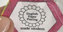 English Paper Piecing Made Modern / English Paper Piecing Made Modern self stick templates. Simply straight stitch by hand or machine. No gluing, basting, whip-stitching or pulling paper. #EnglishPaperPiecing #EPP #Modern