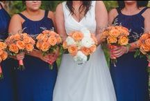 Apricot Vineyard / Kristin & Phil had a lovely vineyard wedding.  Kristin carried a beautiful bouquet of apricot roses and ivory peonies.  Look closely at the boutonnieres, they're adorned with wine corks!  Photos by Keith Lee Studios.