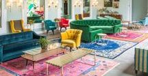 Underfoot / I <3 rugs -- the more colorful, saturated, and exotic, the better. I've finally realized my obsession.