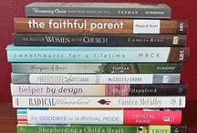 My Bookshelf of things to read / I love finding solid books on Christian Living, Homemaking, Being a godly Wife, Mother, and Christian, Biblical Womanhood, Parenting, Peacemaking and more!  / by Jami Balmet | Young Wife's Guide