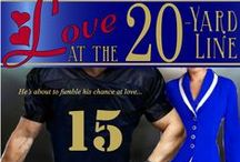 Books - Love at the 20-Yard Line / Hunky arena football star Brody Jackson is focused on working his way into the NFL. He doesn't count on love intercepting his plans when he falls for sweet Haven Haggarty. ~ Contemporary Romance by Shanna Hatfield