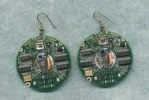 Cyber Chic Jewels / upcycled computer chips made into jewelry!