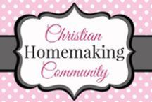 Christian Homemaking Community / The Christian Homemaking Community has two main goals: Glorify God and encourage one another in Gospel Centered Homemaking! Join other like minded Christian Homemakers as we explore all areas of homemaking: cleaning, cooking, organizing, Bible study, kids, babies, natural living, and more! Find us on Facebook: https://www.facebook.com/groups/Christianhomemaking/ / by Jami Balmet | Young Wife's Guide