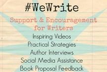 We Write / Find writing tips, inspiration and encouragement here and on-going support at katiemreid.com/wewrite/