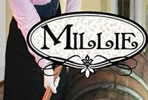 Books - Millie (Pendleton Petticoats, Book 7) / Driven by the pain of her past, Millie Matlock leads the crusade to run every last saloon out of town. Even her attraction to  Gideon McBride,  handsome owner of the Second Chance Saloon, won't derail her plans to bring Prohibition to Pendleton.