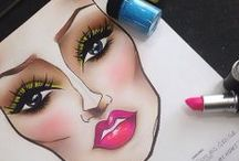 Makeup Face Charts / Face charts for makeup application. Blanks charts from many companies and completed charts from talented MUA's.  / by Cynna Stylz