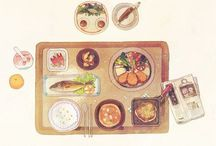 Small Eats / The art of Japanese meal planning, from bento boxes, trays, to small plates and trays.