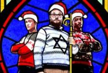 The Night Before (2015) / Seth Rogen (Isaac), Joseph Gordon-Levitt (Ethan), and Anthony Mackie (Chris) prove that wearing funky Christmas jumpers are cool in the brand new Christmas movie 'The Night Before'...