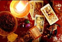 Divination / Divination is the art of looking into something physical to discover hidden truth.  Crystal balls, tarot cards, scrying mirrors and reading tea leaves are all methods of divination.
