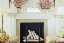 Decor: Fabulous Fireplaces / I'm not a fan of the TVs over the fireplaces that I have posted. I just love the fireplace... / by Pat Gunder
