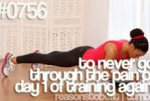 Motivation bord / My motivation for my goal. Being healthy and fit and loving it.