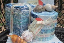 By the Sea / Fabric, quilts, decor and style that fits right in with the ocean.