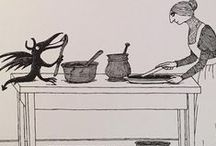 Edward Gorey / American illustrator and cat lover - I love his art style!