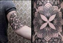 Tattoo Ideas ~ Mehndi, Paisley, Stippling, Geometric, Grayscale