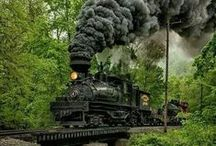 Tracks and Trains / There is something romantic about railroad tracks and steam trains.