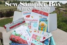 Sew Sampler Quilting Subscription Box / The Sew Sampler Box is a monthly subscription box for quilters and sewists, found exclusively at fatquartershop.com. Sign up today!