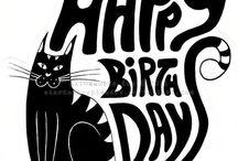 Verjaardagsplaatjes met katten