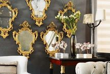 Decorating with mirrors /   / by CasaBella Interiores