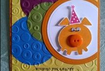 Cards - Spotlighting,Negative Image,color on color, embedded embossing