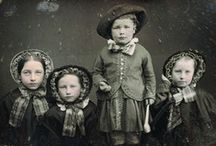 Photos: They Come in Twos, Threes or more! / Wonderful vintage photographs of children. Professional portraits, or fun snapshots, these photos show siblings or friends, grouped together and photographed. / by Carla Brown