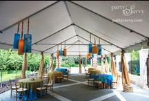Congrats, Grad and Alum! / A look at our favorite graduation ceremonies, complete with tent and chair rentals from partysavvy.com!
