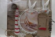 Summer / Vacation Cards / Lots of inspiration for handmade summer and nautical cards using Marianne Design products