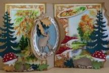 Autumn cards / Autumn themed cards created with Marianne Design products