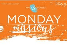 Make 3 Changes™ Monday Missions / Make 3 Changes™ is a framework designed to help leaders move forward during times of change, challenge and opportunity.   These weekly missions are designed to get you thinking differently about various aspects of your life.  It is my hope they provide you with the tools you need to create positive and lasting change in your life, the lives of those you love, those you lead and those you serve.