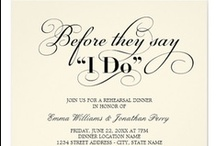 Wedding : Rehearsal Dinner Invitations / Stylish and chic designs by Plush Paper Creations