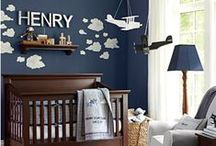 Baby Boy Nursery / Decor and color scheme ideas for a baby boy's nursery room