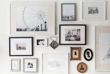 Walls with Art / Inspiration for hanging art whether it's a single piece or a collage of 20 or more