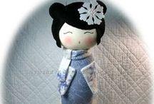 Kokeshis ^^ / Japanese dolls.