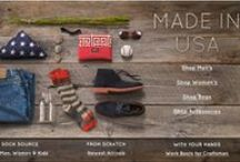 Made in the USA Shop / Shoes, bags and accessories proudly made or assembled right here, in the USA!