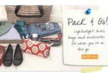 Pack & Go Shop / For all the places you love to travel, lightweight accessories are a must. See our best to Pack & Go!