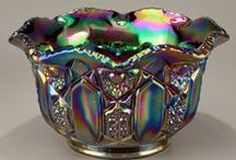 Splendor In The Glass / Carnival glass, which has always been a weird obsession of mine / by Ruth