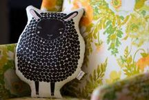 Lay Your Head On These / Gingiber: Zest for Your Nest handmade animal cushions.