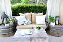 "Outdoor Oasis / Ideas for transforming your (and my) backyard. Also see ""Parties Under the Pergola."""