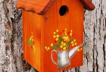 BIRD HOUSES & BIRD BATHS & BIRD FEEDERS / by Janis Wallace