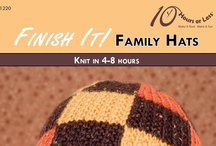 """FINISH IT! FAMILY HATS [Knit in 4-8 Hours] / Stitch up a """"smorgasbord of style"""" with an assortment of knitted hats for the whole family!"""