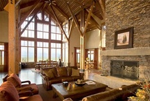 Lodge / Stunning Rustic, Lodge, Log, Timber, Mountain Homes / by Lynne M