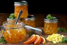 Jam, Preserves & Marmalades / I so enjoy jams, jellies and marmalades.  My pantry is over run with all sorts of jars containing these sweet delights...and my favorite are marmalades.  It is my belief that when God created all the fruits and vegetables, He made oranges first, and then He made Orange Marmalade.  Yes, to me, it is that delicious.