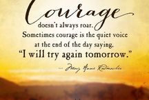 COURAGE / To survive this journey alone / by Janis Wallace