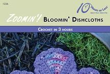 ZOOMIN'! BLOOMIN' DISHCLOTHS [Crochet in 3 Hours] / Color your kitchen on-the-quick with a crocheted flower dishcloth!
