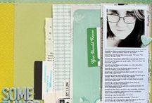 Scrapbooking / Scrapbook page design inspiration